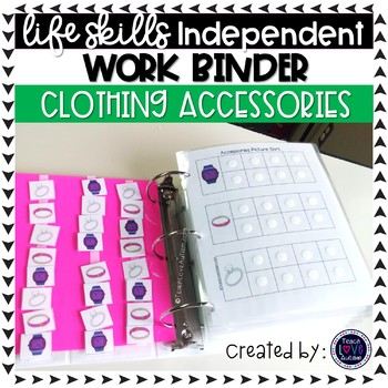 Clothing: Accessories Independent Work Binder