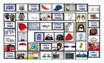 Clothing, Accessories, Footwear, and Jewelry Legal Size Photo Board Game