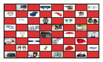 Clothing, Accessories, Footwear, and Jewelry Legal Size Photo Checkerboard Game