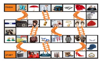 Clothing, Accessories, Footwear, and Jewelry Legal Size Photo Chutes and Ladders