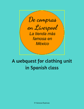 Clothing Activity Spanish