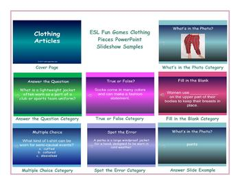 Clothing Articles PowerPoint Slideshow