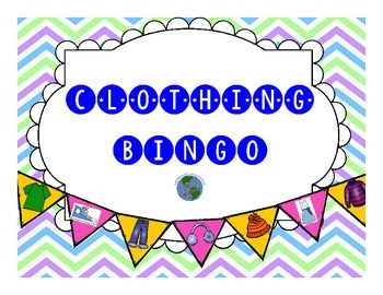 Clothing BINGO! A Question Based Game