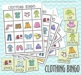 Clothing Bingo Printable Game