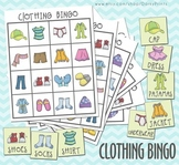 Clothing Bingo Printable Game