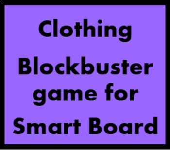 Clothing Blockbuster game for Smartboard