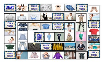 Clothing and Fashion Legal Size Photo Board Game