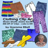Clothing, Pants, Shorts, Jeans, Running Shoes Realistic Cl