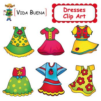 "Clothing Clip Art ""Cute Dresses"""