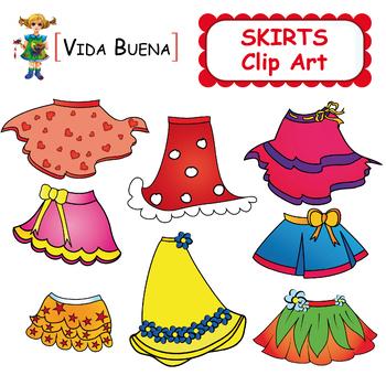 "Clothing Clip Art ""Cute Skirts"""