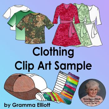 Clothing Clip Art FREE Sample - 300 DPi