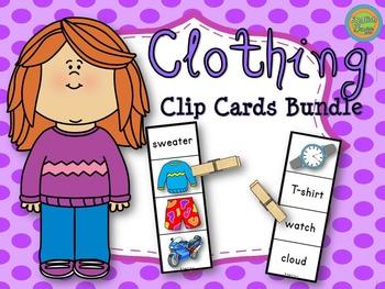 Clothing - Clip Cards Bundle