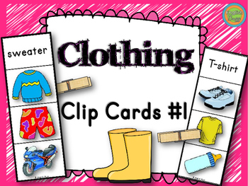 Clothing - Clip Cards Game #1