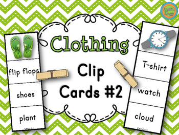 Clothing - Clip Cards Game #2