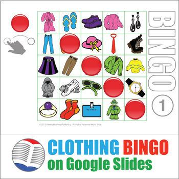 Clothing Digital Bingo