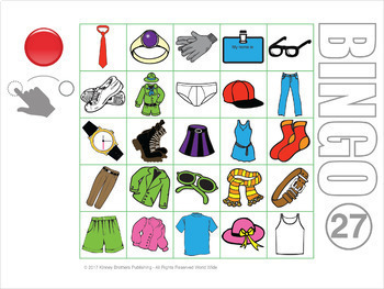Clothing Bingo Digital