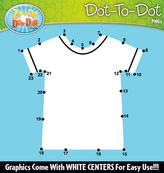 Clothing Dot-To-Dot Clipart {Zip-A-Dee-Doo-Dah Designs}