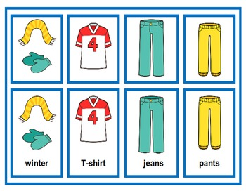 Clothing Drawer Labels for Boys