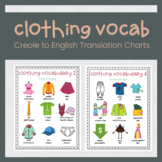 Clothing ESL Vocabulary with Haitian Creole and English Translations