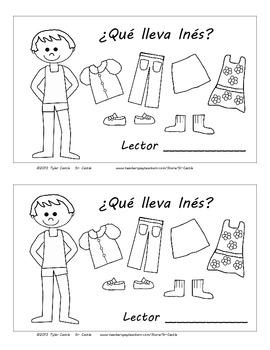 ¿Qué lleva Inés? Clothing Emergent Reader