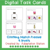 Clothing Match Digital Task Cards for Distance Learning Freebie