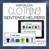 Clothing Errorless Writing Sentence Helpers