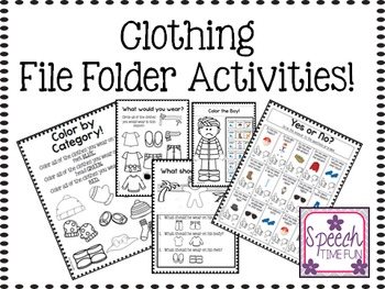 Clothing File Folder Activities: Great for students with Autism, ABA, and more!)