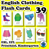 ESL Clothing and Accessories Flash Cards. Socks, shirt, ja