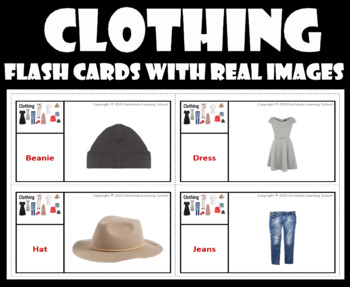 Clothing- Flash Cards with Real Images