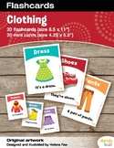 Clothing Flashcards / Set of 20 / Printable