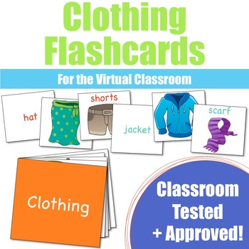 Clothing Flashcards for the Virtual ESL Classroom - Virtual Classroom Props