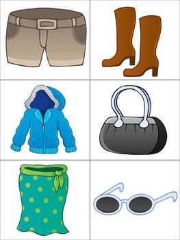 Clothing Flashcards for the Virtual ESL Classroom - Virtual Classroom Props