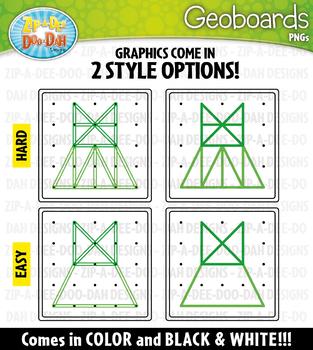 Clothing Geoboards Clipart {Zip-A-Dee-Doo-Dah Designs}