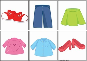 Clothing Items - Vocabulary Pack