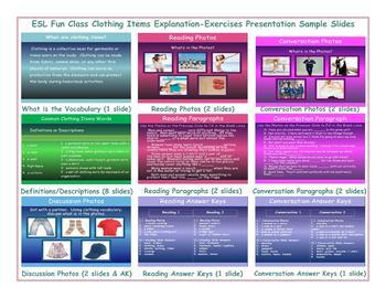 Clothing Items Explanation-Exercises Presentation