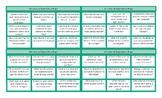 Clothing Items Spanish Tic-Tac-Toe or Bingo Game