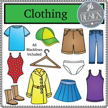 Clothing (JB Design Clip Art for Personal or Commercial Use)