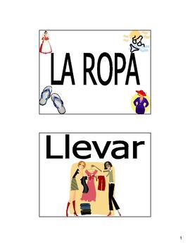 Clothing (La Ropa) Bulletin Board and Flash Cards in Spanish