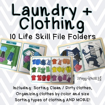 clothing laundry life skill file folders special education tpt. Black Bedroom Furniture Sets. Home Design Ideas