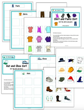 Clothing / Laundry Life Skill File Folders (Special Education)