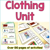 Clothing Life Skills Unit (Special Education & Autism Resource)