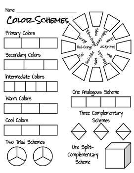 Clothing Management 1 Unit 1: Color Scheme Activity Sheet
