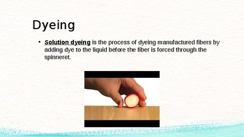 Clothing Management 1 Unit 2: Dyeing and Printing PowerPoint