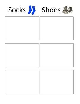 Clothing Match File Folder Activity