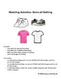 Clothing Matching- Activity and Data Sheets