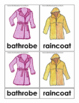 Clothing Montessori 3 Part Cards in English Only