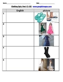 Clothing Quiz with pictures