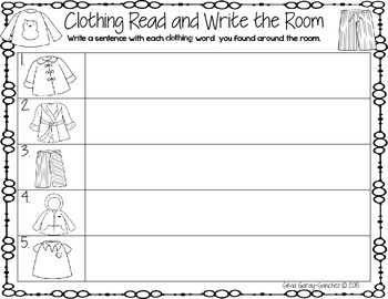 Clothing Read and Write the Room Center