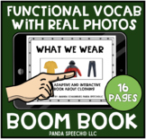 Clothing: Real Photo Functional Vocabulary BOOM Card Book
