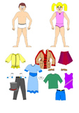 Spanish/French Clothing SmartBoard, speaking activity
